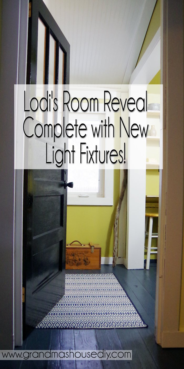 Lodi's Room Reveal complete with New Light Fixtures! There were quite a few steps to finally getting here from building a wall and lots of