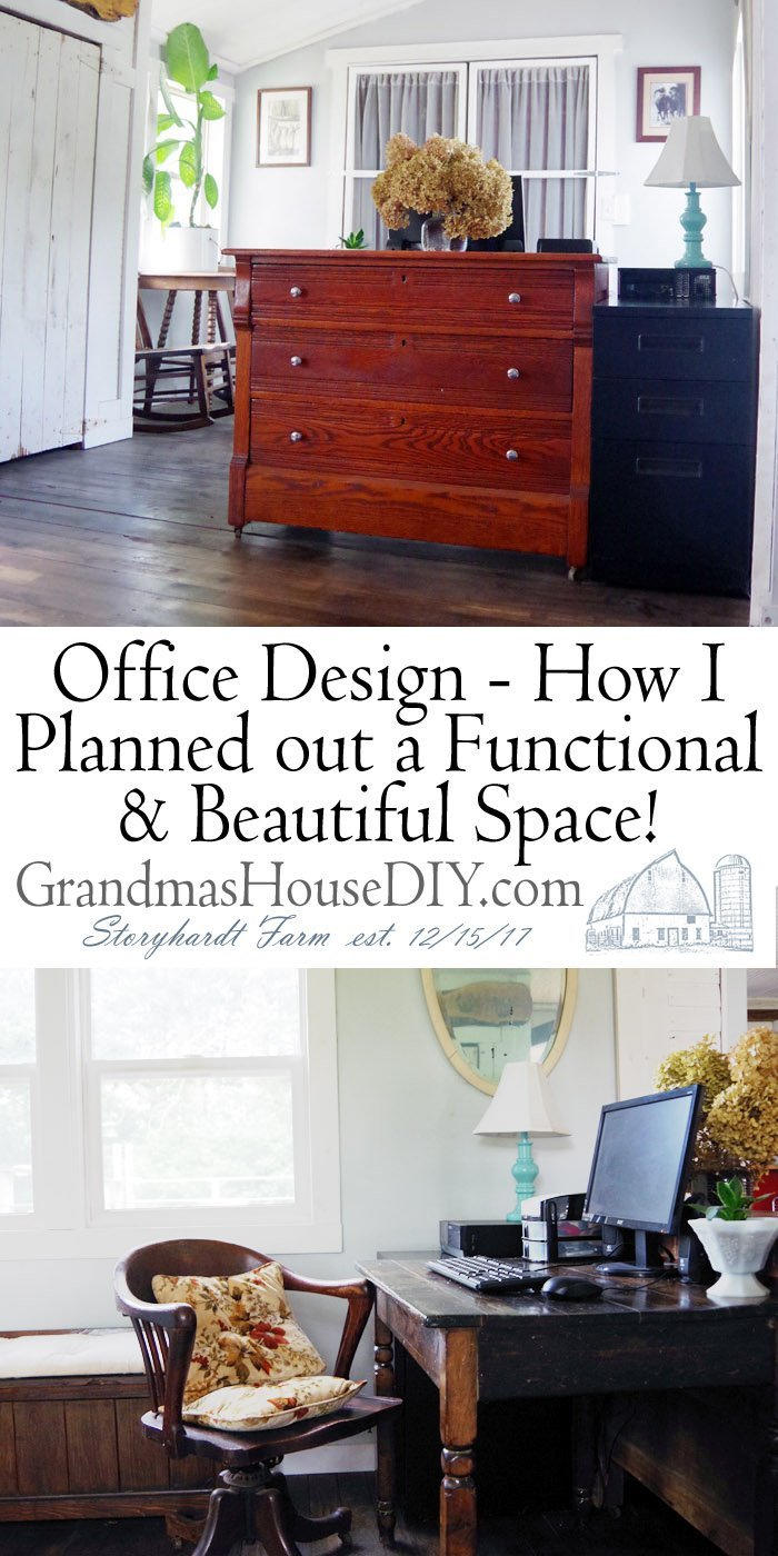 Office Design - How I planned out a functional and beautiful space! How to design an office based on comfort, functionality and beauty in a small space.