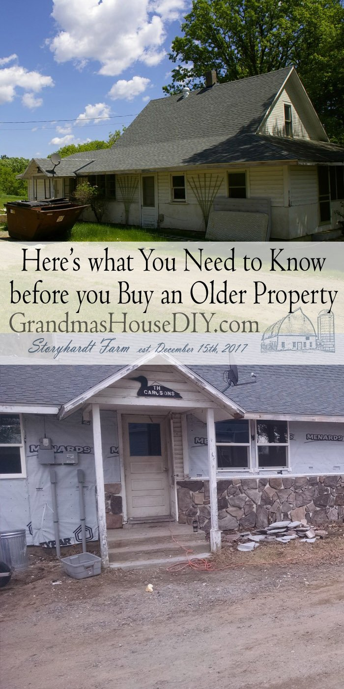 Purchasing an older property SHOULD be daunting in its own way. Most people hugely underestimate the cost, I love property it should be great!