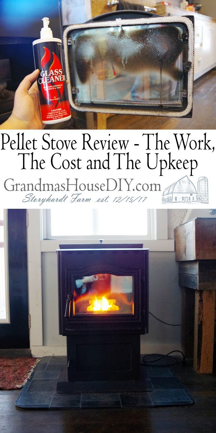 My harmon pellet stove is incredibly clean burning, how I clean it, the glass, maintain it and the work involved in owning a pellet stove, I love it!
