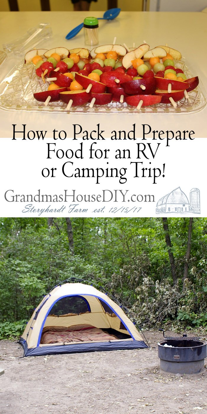 Before you head out on an RV trip, you want to make sure all of your food is packed and prepared, here are some tips to make it easier and way more fun!