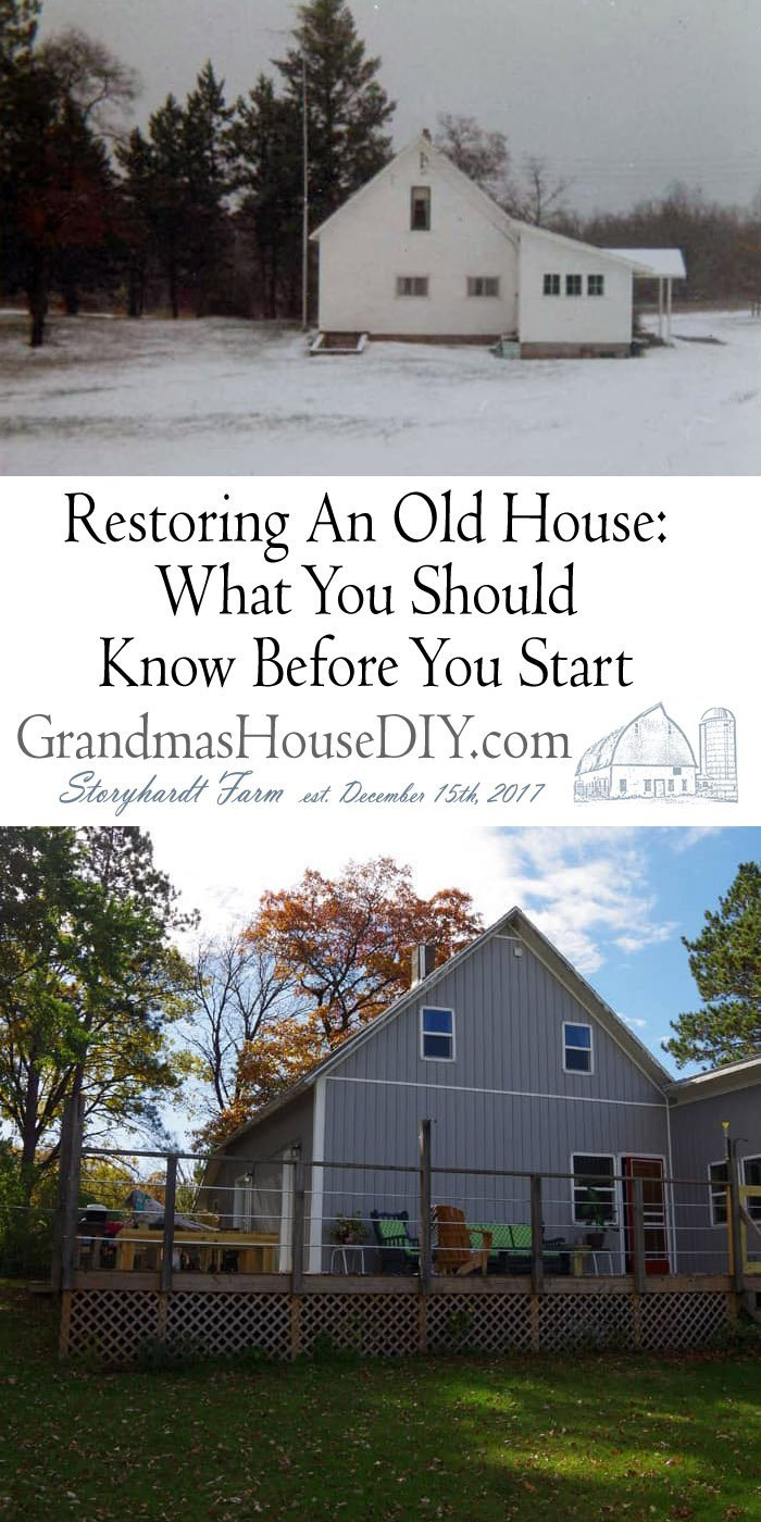 Restoring An Old House: What You Should Know Before You Start. Take on a project to restore and old property is not for the faint of heart, start small.