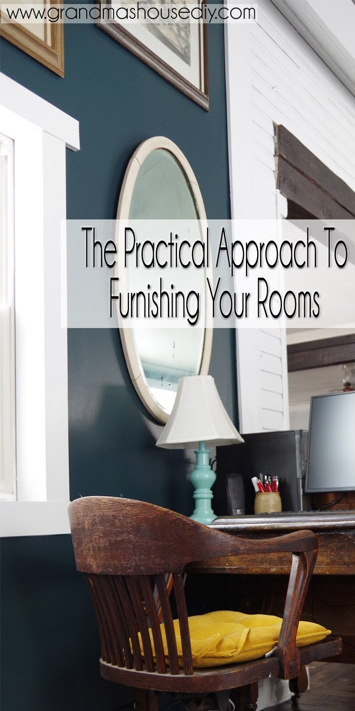 I've found that furnishing a home comes in three different categories and they each add up to a huge undertaking. Either you don't have enough