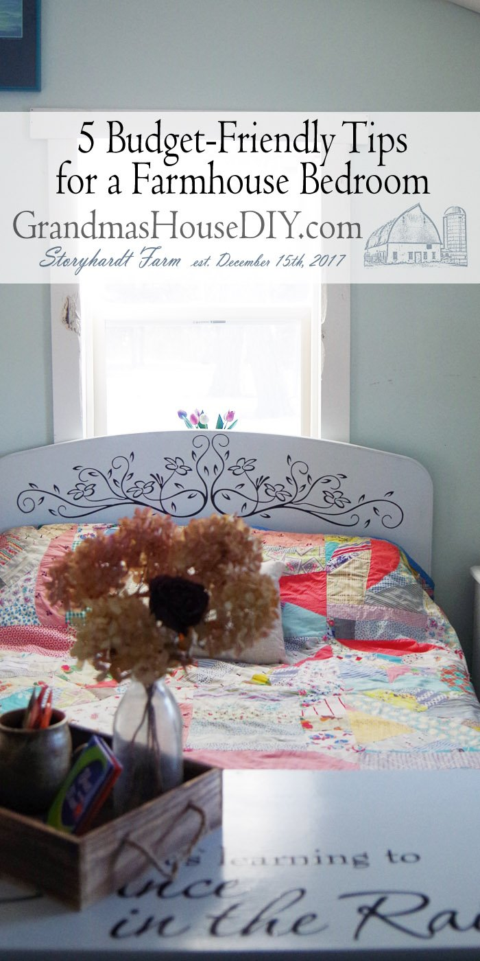 Five budget friendly tips to create a do it yourself inexpensive decorated decor farmhouse master bedroom how to get that farmhouse look in your bedroom!