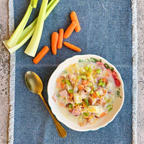 Easy Creamy Potato Soup with Bacon