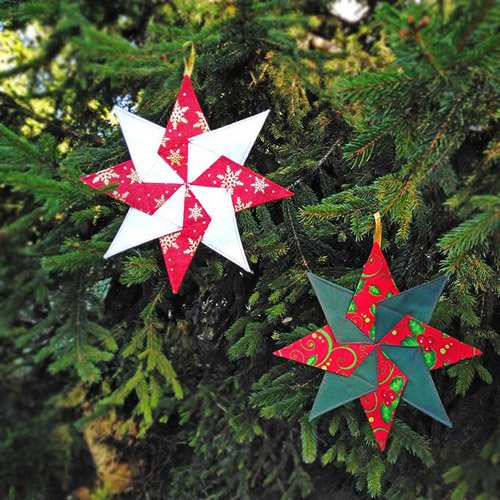 Kaleidoscope Star Quilted Christmas Ornament Pattern