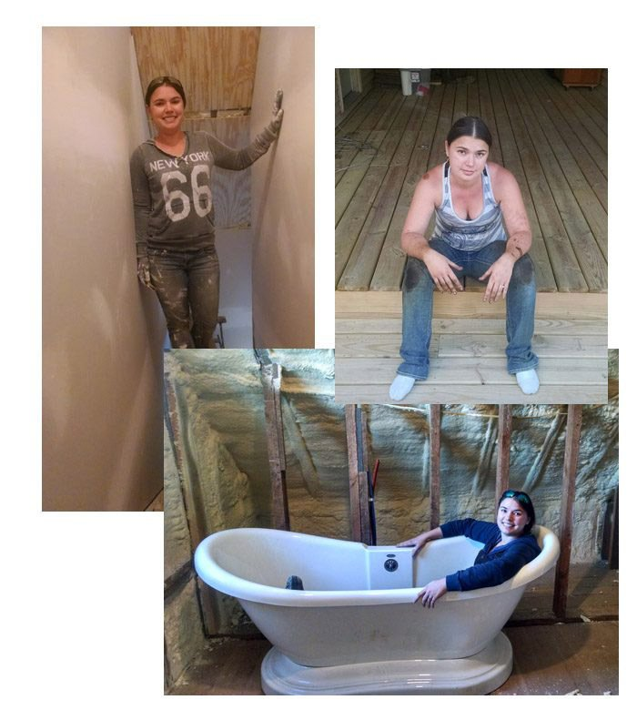 The story of a newly single gal that almost singelhandely renovated her Grandparents' 100 year old farmhouse. How at 30 years old she built her dream home!