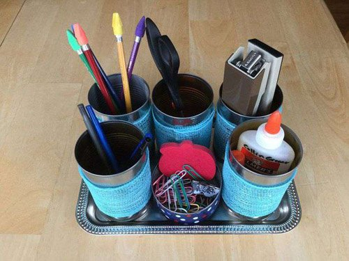 Chas from Chas' Crazy Creations – How To DIY A Can Organizer for Supplies