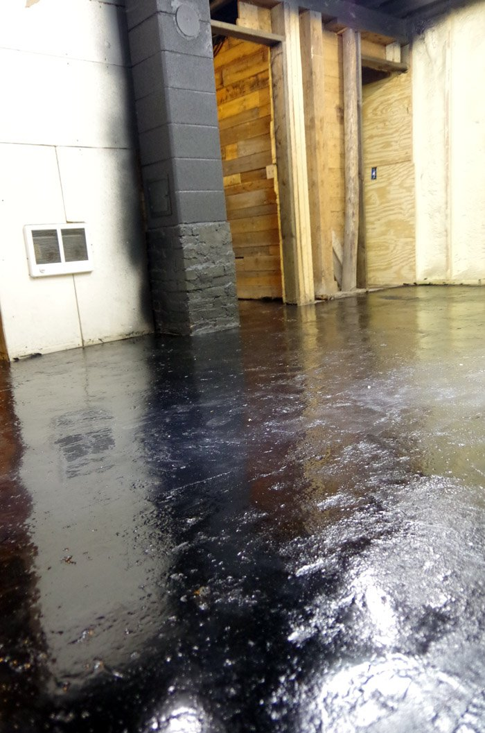 How we completed our Basement Epoxy floors using Rustoleum's RockSolid flooring Kit - after a thorough cleaning, scrubbing and acid wash Lodi
