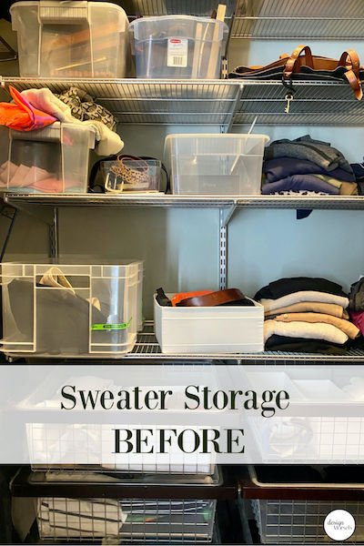 Andrea from Design Morsels - Sweater Storage
