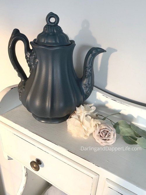 Allison from Darling and Dapper Life - Thrift Store Teapot Makeover
