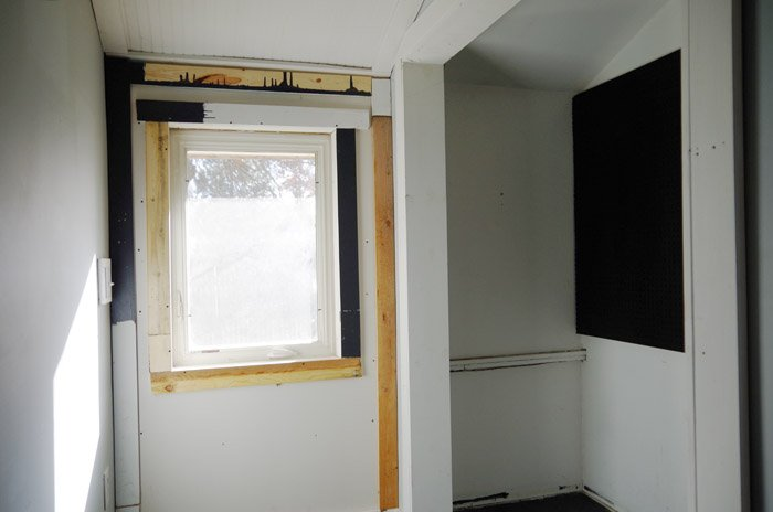 Replacing a door with a new window. If you read my doors post than you know this is one of many posts coming up that all started with the