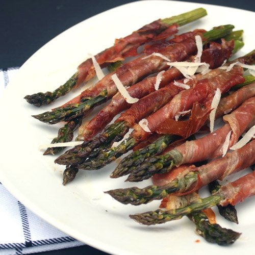 Roasted Asparagus Spears Wrapped in Prosciutto